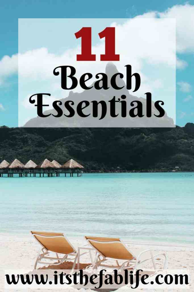 Top 11 Beach Essentials | Beach Essentials | Items You Need for the Beach | #beach #beachlife #beachessentials #travel #organization