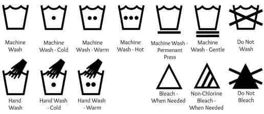 Laundry Symbols - A Guide - The Fab Life