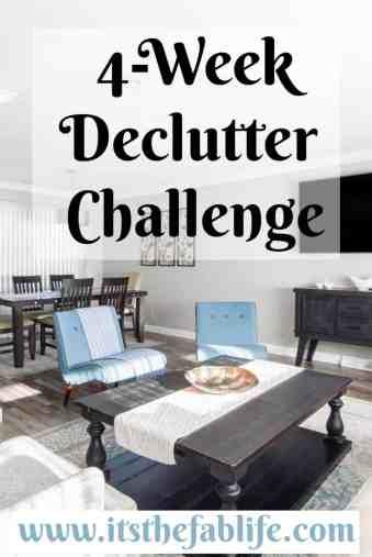 4-Week Declutter Challenge | Declutter Your Home in 4 Weeks | #organization #cleaning #decluttering #organize #clean #declutter #homemanagement