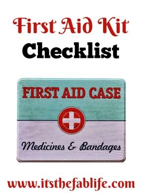 First Aid Kit Checklist | Medicine Chest | #emergency #firstaid
