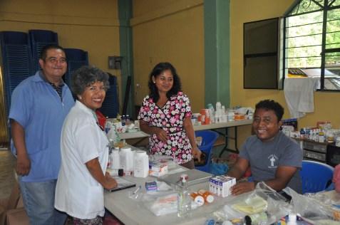 Augustine, Sylvia, Eloisa & Saul. Look Saul smiled!