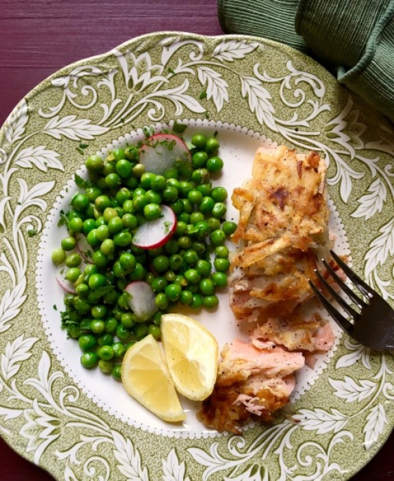 Dijon Potato Crusted Salmon