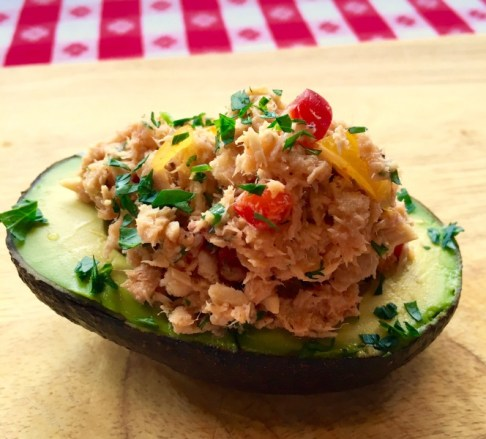 Baja Tuna Salad in Avocado