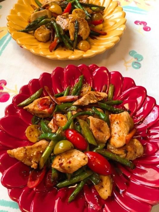 Balsamic Chicken Veggie Saute