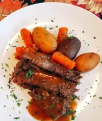 slow-cooker pot roast dinner