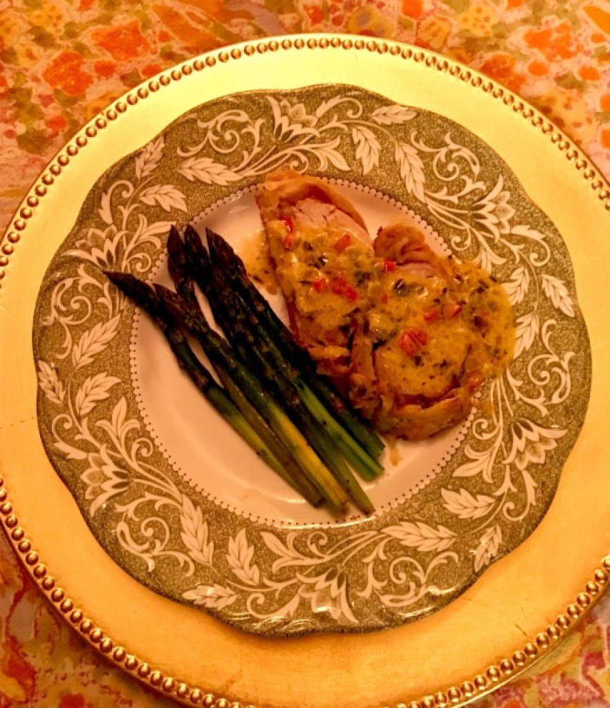 Pastry Wrapped Pork Tenderloin with Mustard Cream Sauce