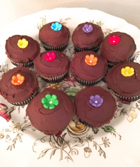 Mini Chocolate Ganache Cupcakes