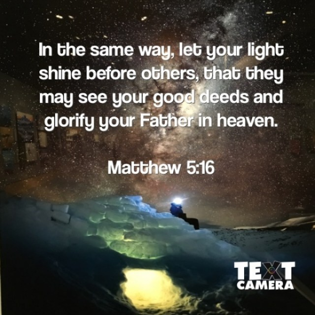 Let Your Light Shine Before Others - Thyme4Faith