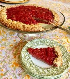 Rhubarb Raspberry Crostata