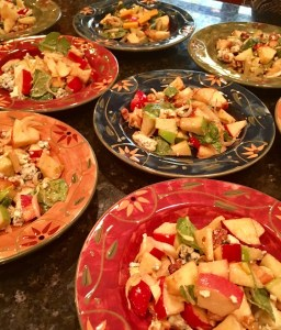 Apple Salad with Walnuts, Blue Cheese & Pomegranate Vinaigrette