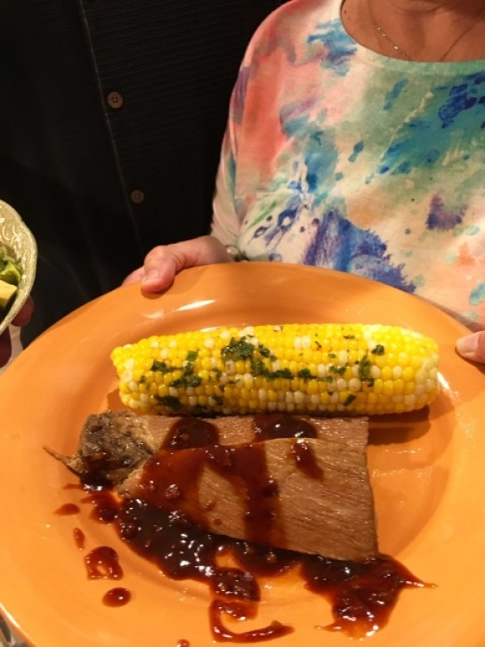 BBQ Brisket and Grilled Corn