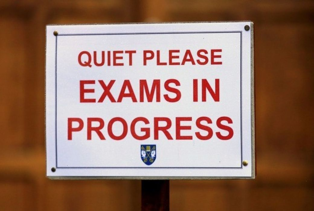 Quite Please exams in progress