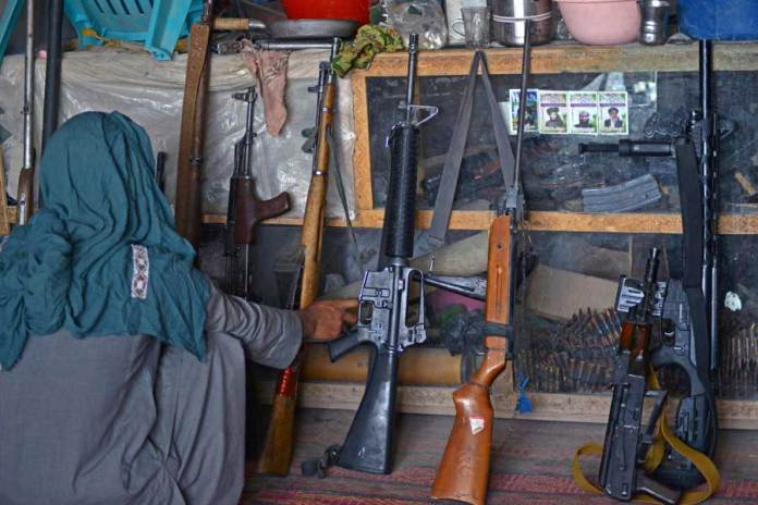 It's a good time for Afghan weapons merchants in the Taliban stronghold.