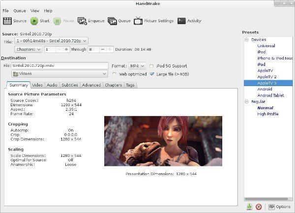 How to Install Handbrake Video Transcoder In Ubuntu