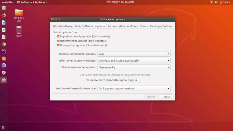 upgrade to ubuntu 18.10 from ubuntu 18.04 LTS