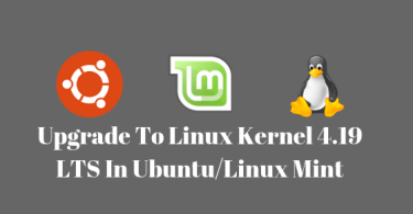 upgrade to Linux kernel 4.19 in ubuntu/linux mint