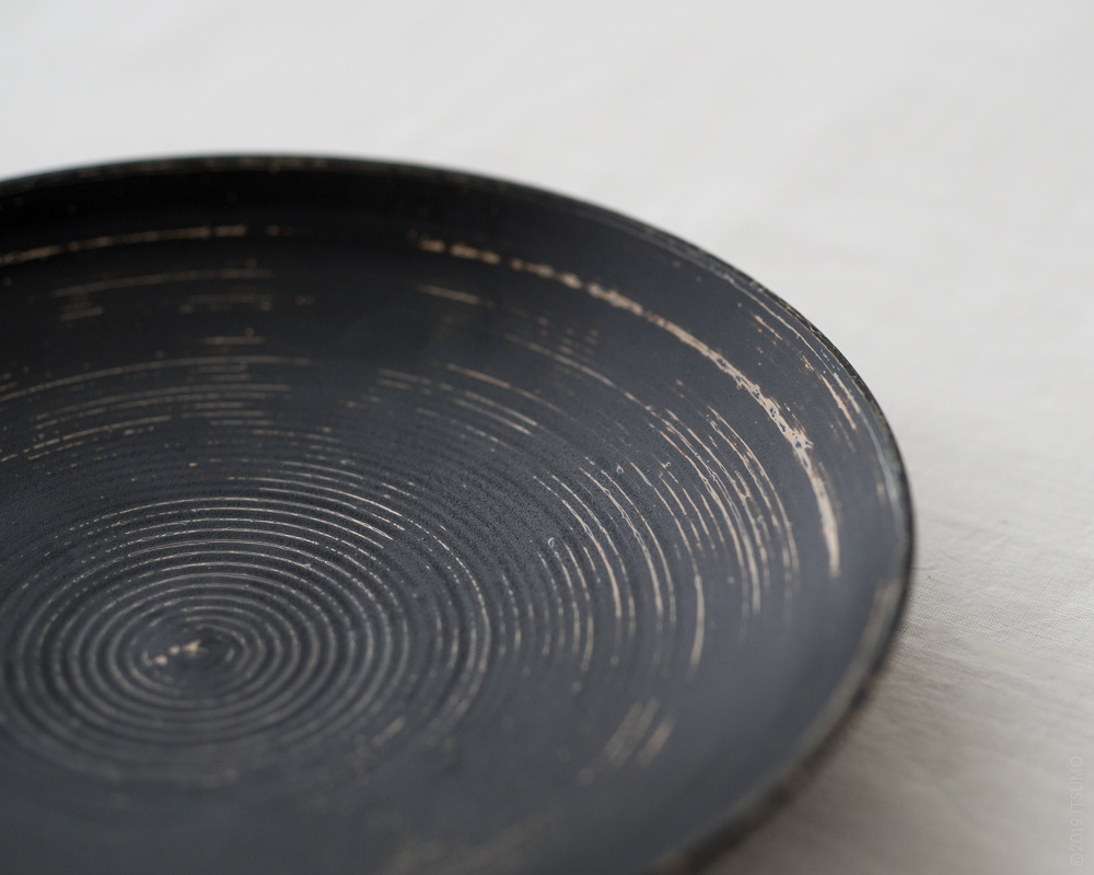 TSUKIHO Lacquered Wood Plate_Black-3