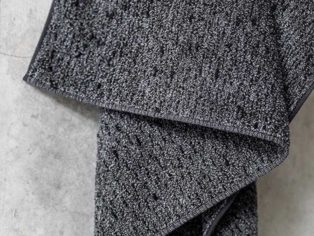 Uchino_Kishu Binchotan Charcoal Towel_black