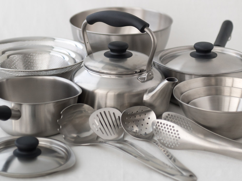 Sori Yanagi_Stainless Steel Kitchenware