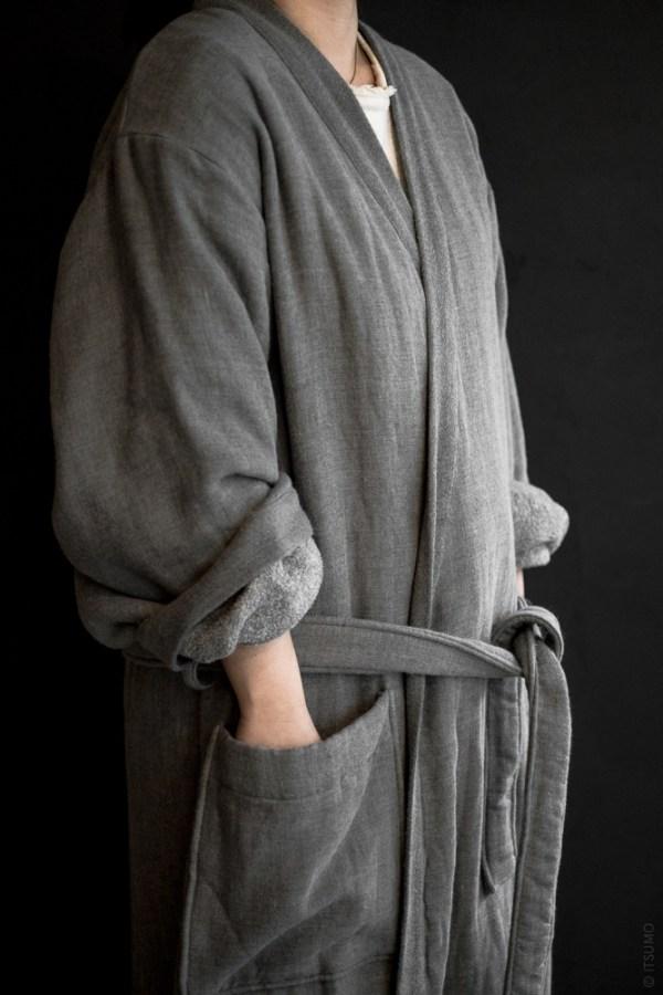 UCHINO_Sumi Gauze & Pile Robe
