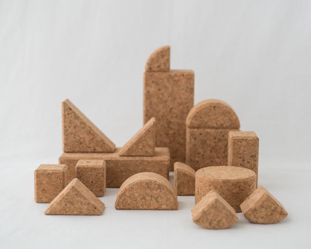 Cork Building Blocks - 20pcs