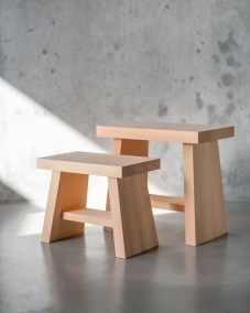 azmaya-hinoki bath stool-japanese cypress wood-1