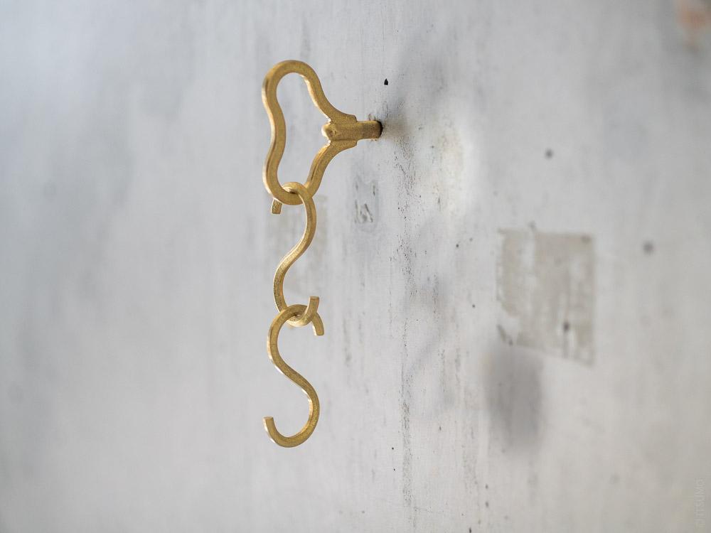 FUTAGAMI_Brass Zenmai Hook_bean & S Hook