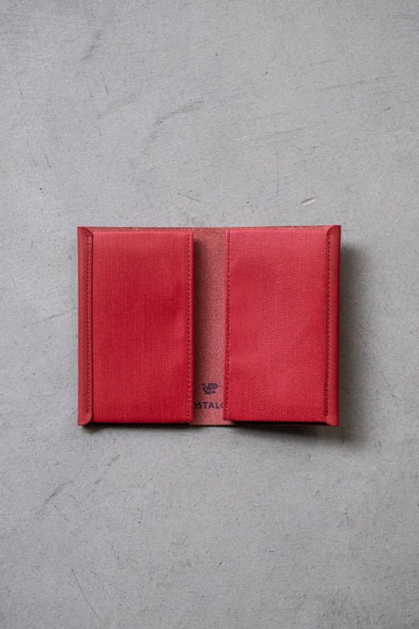 Postalco_Card Holder_brick red_top