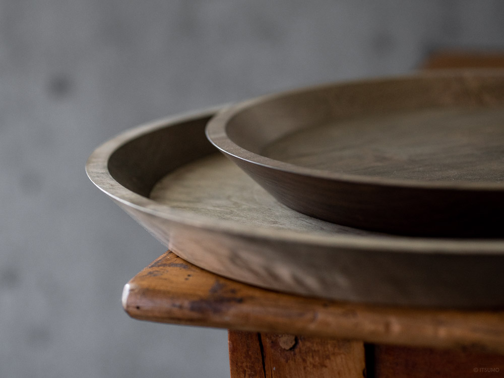 Masashi Ifuji Round Tray - Maple Veg-dyed
