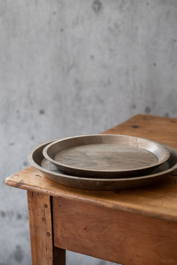 Masashi Ifuji Round Tray - Maple Veg-dyed_top