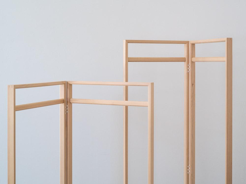 Azmaya_Hinoki Clothes Rack_tall narrow & medium wide