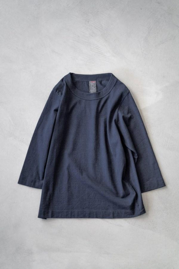 Homspun_3/4 Sleeve T-shirt_dark indigo_top