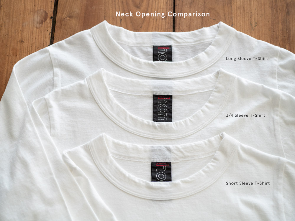 Homspun_Cotton T-shirt Neck Opening Comparison