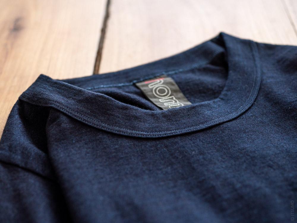 Homspun_Cotton T-shirt_dark indigo__neck detail