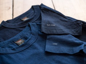 Homspun_Short Sleeve T-shirt_indigo & dark indigo_dl