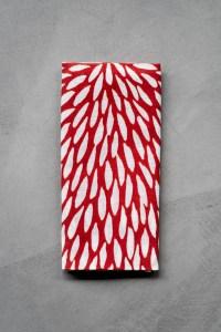 Kamawanu_Tenugui_Cotton Linen Mix_Chrysanthemum_red_top