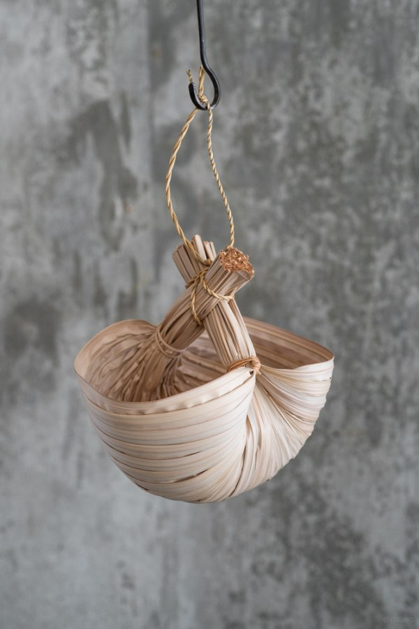 Nipa Palm Hanging Basket_top