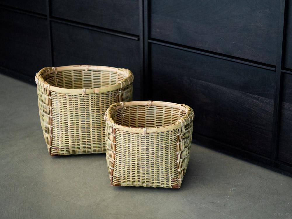 Sakura Kuzu Bamboo Basket-1