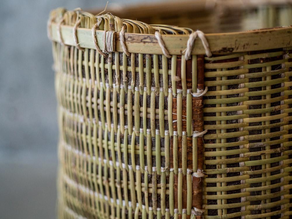 Sakura Kuzu Bamboo Basket-5