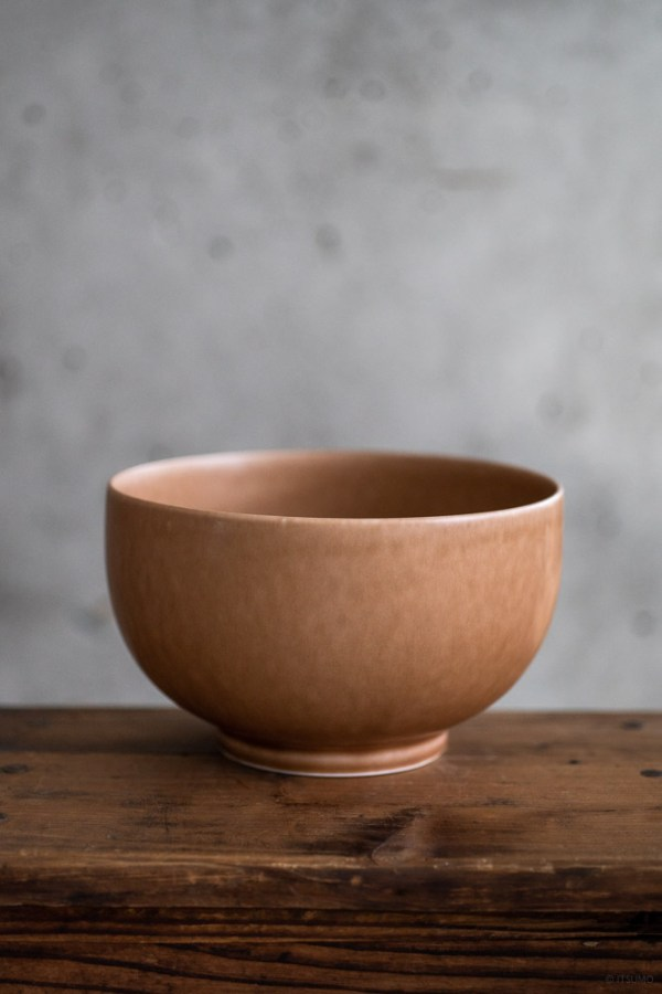 Yumiko Iihoshi Porcelain_ReIrabo_Donburi Bowl_Warm Soil Brown_top