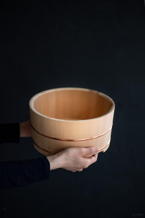 Azmaya_Kiso Sawara Rice Washing Barrel_top
