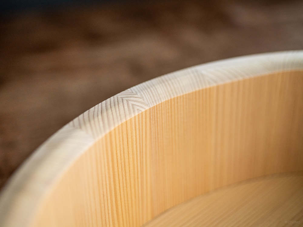 Azmaya_Kiso Sawara Sushi Rice Mixing Bowl with Lid - 7go