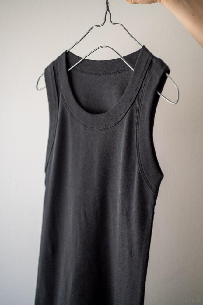 homspun-women's cotton tank top-black-3