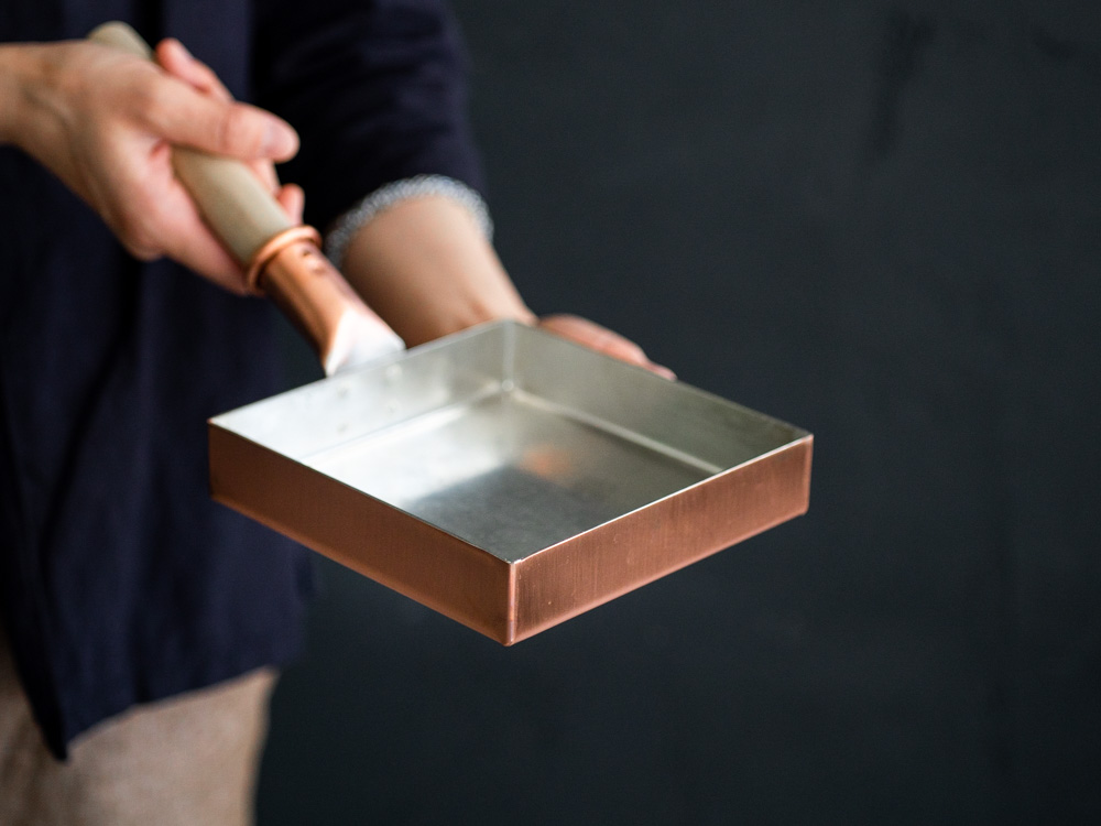 Kiya Copper Tamago Frying Pan - Square-8