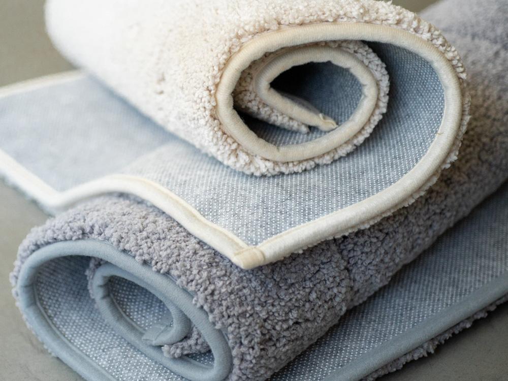 Uchino_Quick Dry Bath Mat - Beige & Grey-2