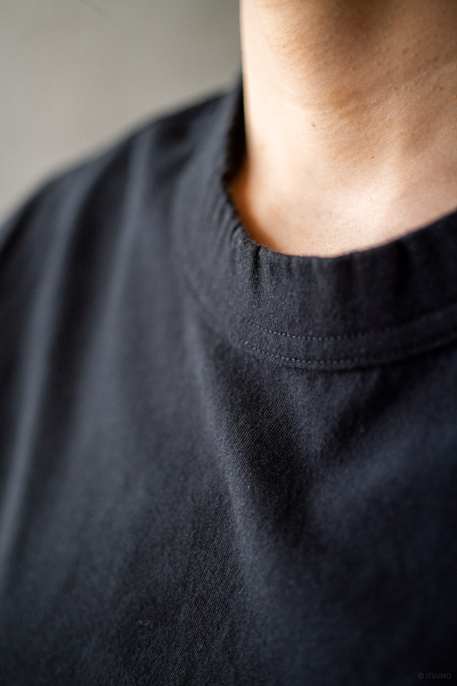 homspun-women's cotton half sleeve t-shirt-black-5
