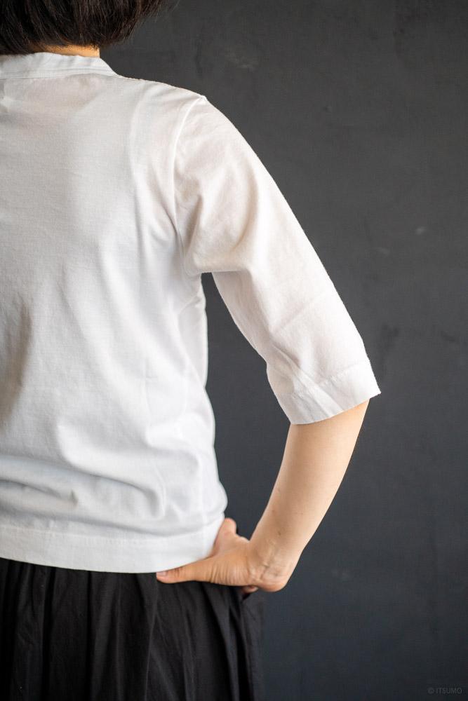 homspun-women's cotton half sleeve t-shirt-white-3