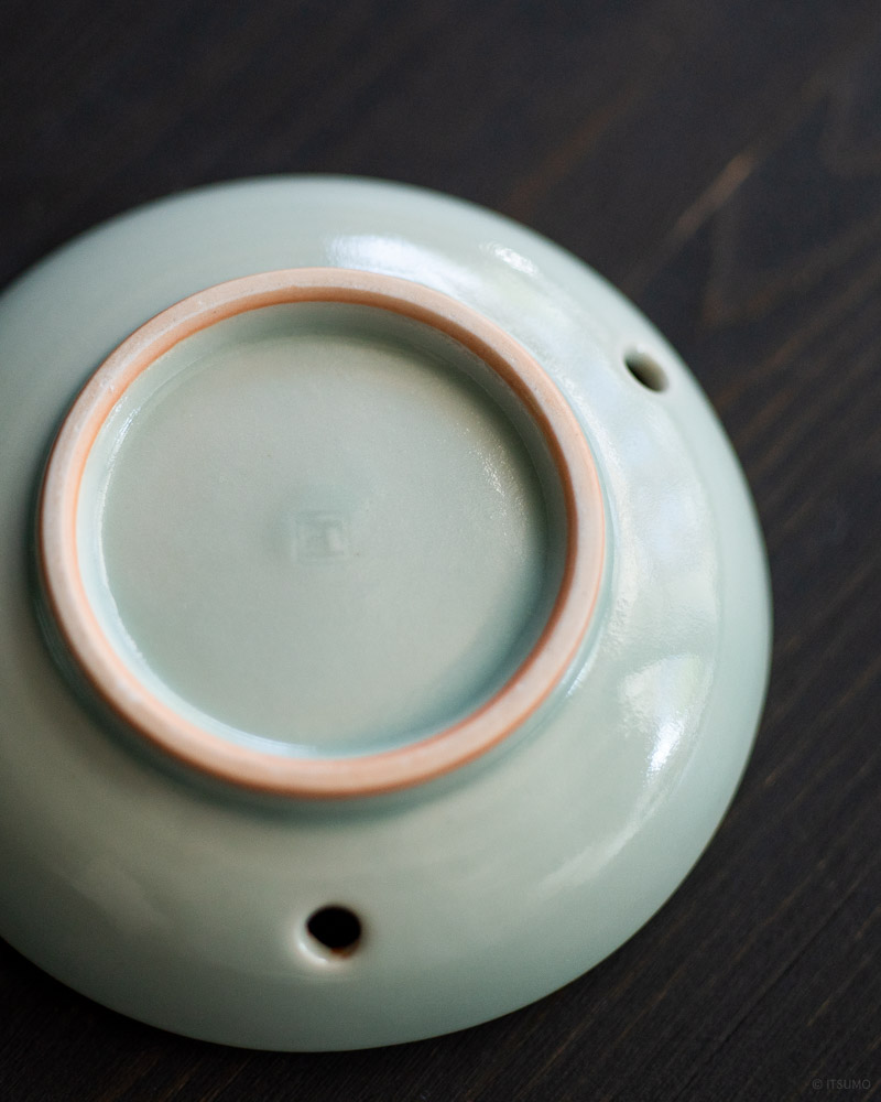 ceramic celadon incense coil burner-4