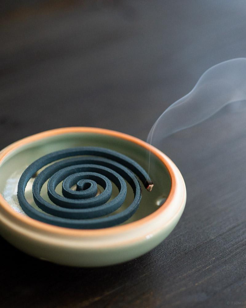 ceramic celadon incense coil burner-5