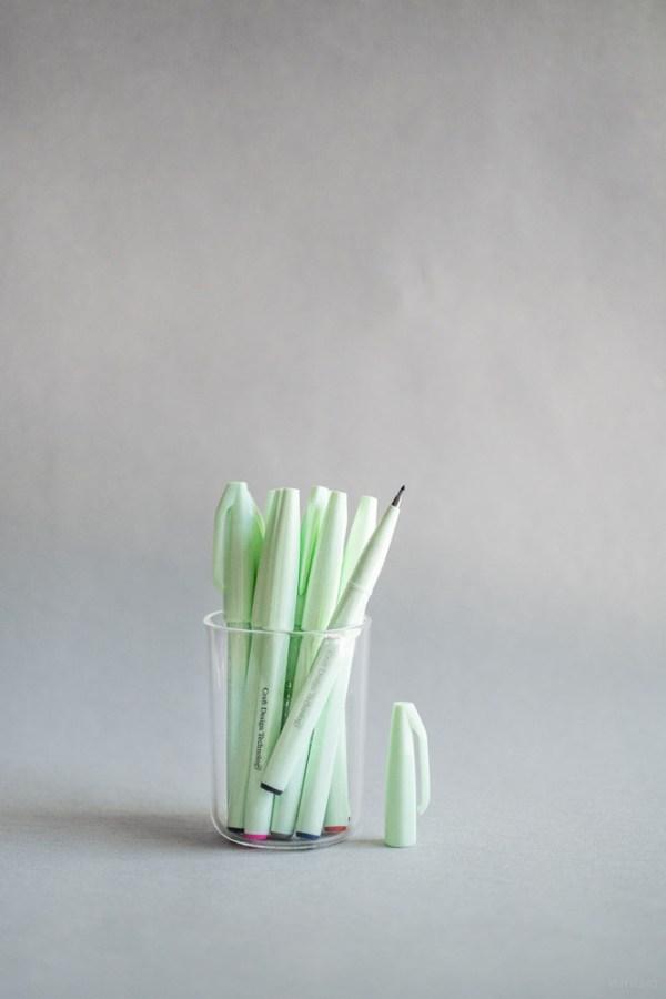 stationery craft design technology_brush sign pen